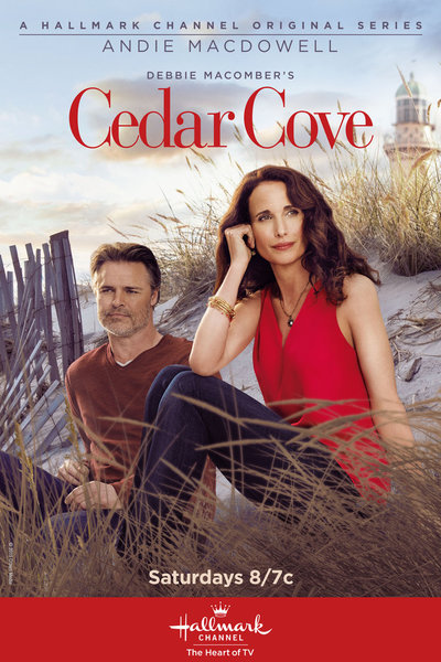 DEBBIE MACOMBER'S CEDAR COVE SEASON 3 - Based on the bestselling book series by #1 New York Times bestselling author Debbie Macomber, Season 3 returns viewers to a majestic and idyllic small seaside town of Cedar Cove, home to romance, relationships and drama. At the center of it all is Olivia Lockhart (Andie MacDowell), the revered Cedar Cove Municipal Court judge, lifetime resident, loving mother and loyal friend to many. As Olivia's romance with newspaper editor Jack (Dylan Neal) hangs in the balance following a shocking discovery, Olivia, along with her family and friends, will find her small town is bursting with more drama -and heart- than ever before.
