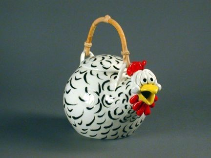 gotta write crazy chicken teapot